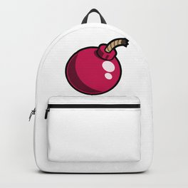 Pink Cartoon Bomb Icon Backpack