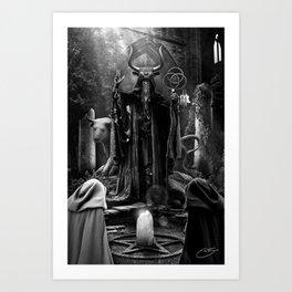 V. The Hierophant Tarot Card Illustration  Art Print