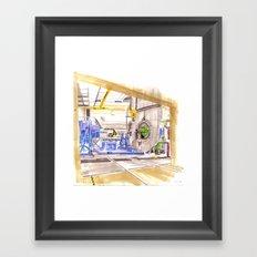 Turbine testing  Framed Art Print