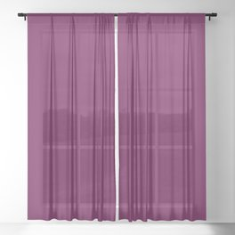 Red wine Sheer Curtain