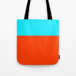 cyan orange Tote Bag