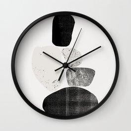 Pile of rocks Wall Clock