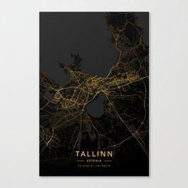 Tallinn, Estonia - Gold Canvas Print
