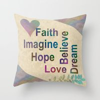 inspirational Throw Pillows featuring Inspirational by LLL Creations