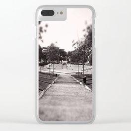 Umbrella Park Clear iPhone Case
