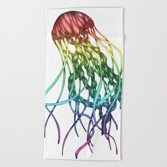 Rainbow Jelly Beach Towel