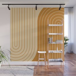 Two Tone Line Curvature XXXII Wall Mural