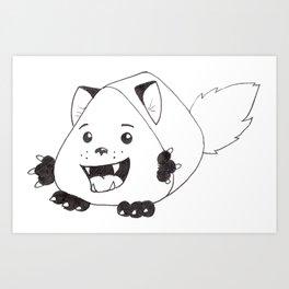 Fear Me!  For I am both cute and creepy! Art Print