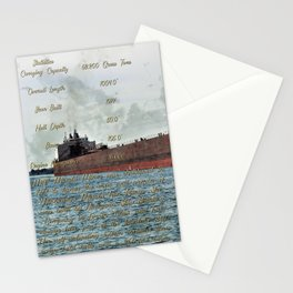 Mesabi Miner freighter and Stats Stationery Cards