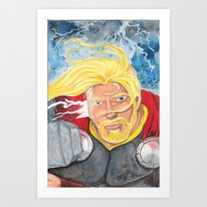 Thor One Art Print