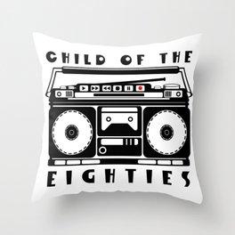 Eighties Music Throw Pillow