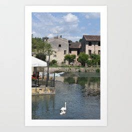 Picturesque view of Borghetto sul Mincio Art Print