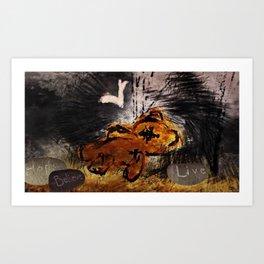 The fallen ones Art Print