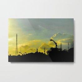Silhouette Urban Scene, Guayaquil, Ecuador Metal Print