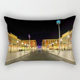 Nighttime at Place Massena in Nice Rectangular Pillow