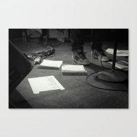 eddie vedder Canvas Prints featuring Eddie Vedder Concert Setlist by Tim Schavitz