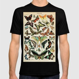 Papillon I Vintage French Butterfly Charts by Adolphe Millot T-shirt