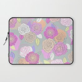 Roses, painted floral pattern Laptop Sleeve