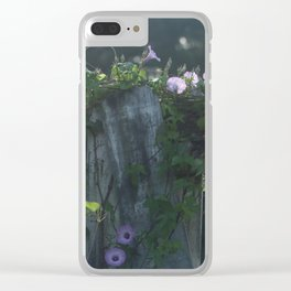 Southern Purple Morning Glories Clear iPhone Case