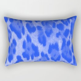 Blue Cheetah Rectangular Pillow