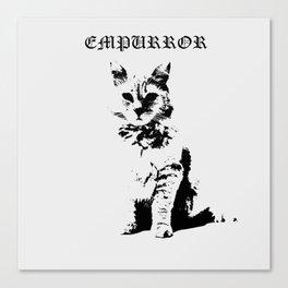 CAT METAL : Empurror Canvas Print