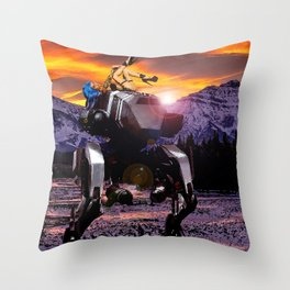 Spring Break on the Ice Planet Hoth Throw Pillow