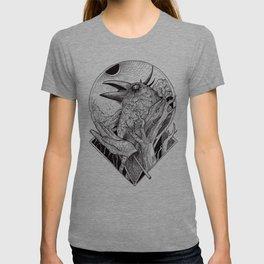 Crow b/w T-shirt