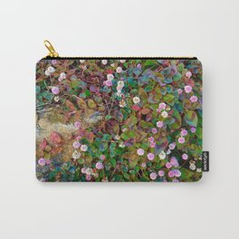 Tiny pink flower ground cover Carry-All Pouch