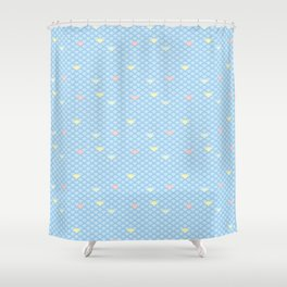 Colorful Scalloped Wave Shower Curtain