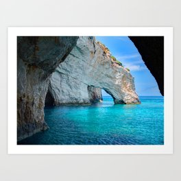Greece Ocean Art Print