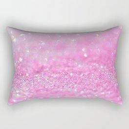 Sparkling Baby Girl Pink Glitter Effect Rectangular Pillow