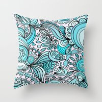 crystal Throw Pillows featuring Crystal by DuckyB