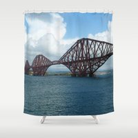 scotland Shower Curtains featuring Forth Bridge, Scotland by Phil Smyth