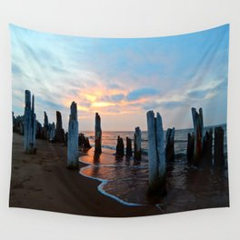 Pillars of the Past at Dusk Wall Tapestry