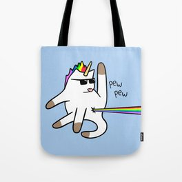 Unicorn Cat Rainbow Butt Laser Tote Bag