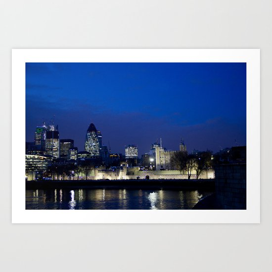 Tower of London at night Art Print