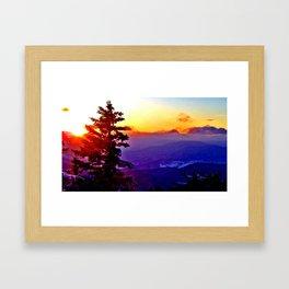 snowshoe sunrise Framed Art Print