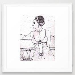 An Authentic beauty Framed Art Print