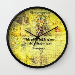 Shakespeare old age funny humorous quote Wall Clock