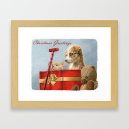 What Santa Left One Year- Christmas Greetings Framed Art Print