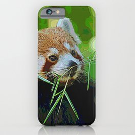 AnimalPaint_RedPanda_20171201 iPhone Case
