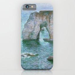 Claude Monet, French, 1840-1926 Manne-Porte, Etretat iPhone Case