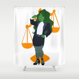 Judge, Jury, and Executioner Shower Curtain