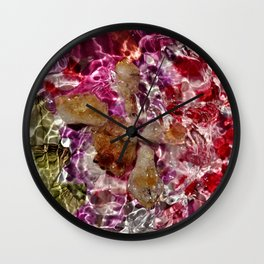 Citrine Petals Wall Clock