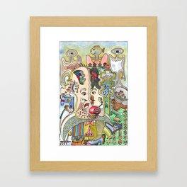 «The odd couple and the rascal» – Gunnar Molvær Framed Art Print