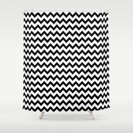 Black & White Zig Zag Pattern Shower Curtain
