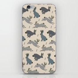 Jackalope Snow Parade iPhone Skin