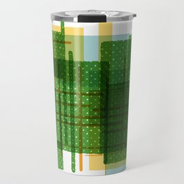 Abstract Geometric Dots Travel Mug