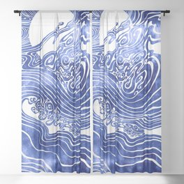 Churn The Deep Sheer Curtain