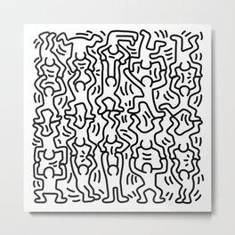 Homage to Keith Haring Acrobats Metal Print